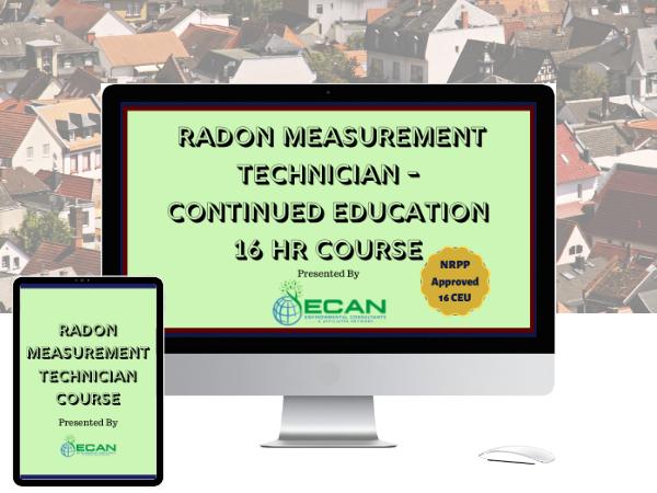 Radon measurement tech online ceu course