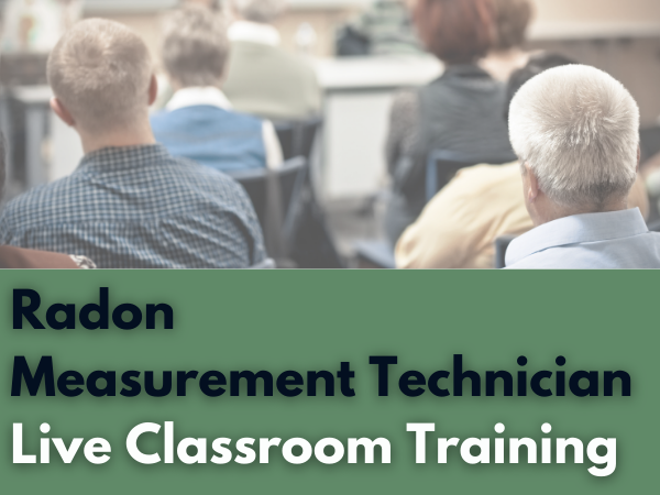 Live radon training course cover